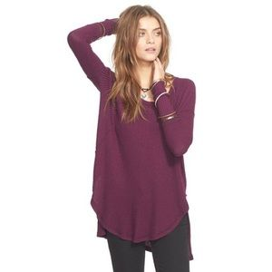 Free People Ventura Thermal Purple Long Sleeve
